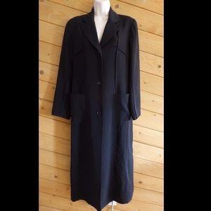 Carol Cohen Black Lightweight Long Coat Jacket 6